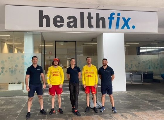 Community awareness: Healthfix and South Maroubra Surf Lifesaving Club