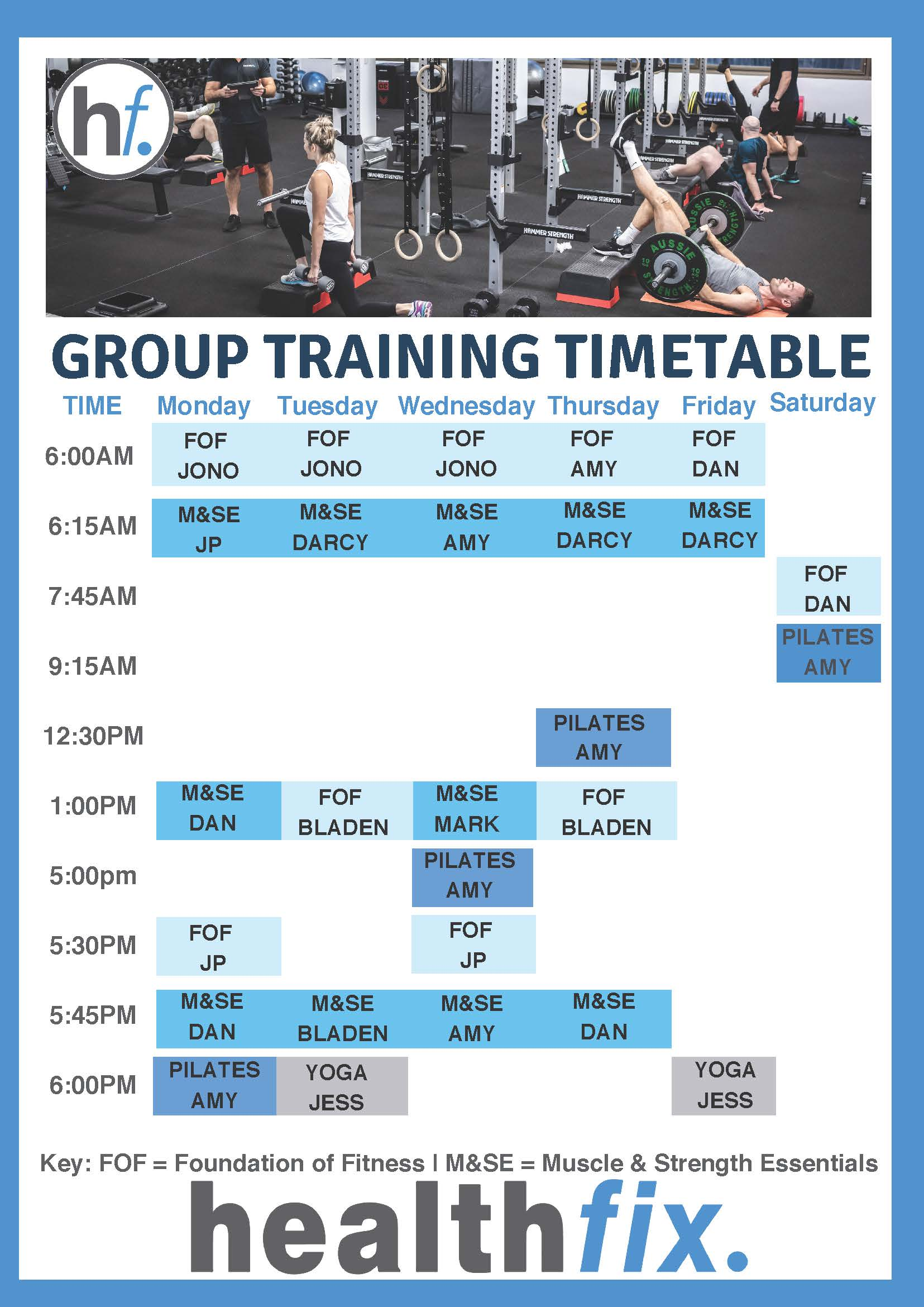 Group Training Timetable Updated 2505 1